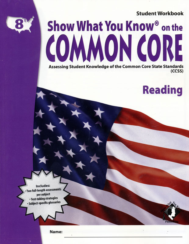 Show What You Know® Common Core Student Workbook & Teacher's Guide Grade 8