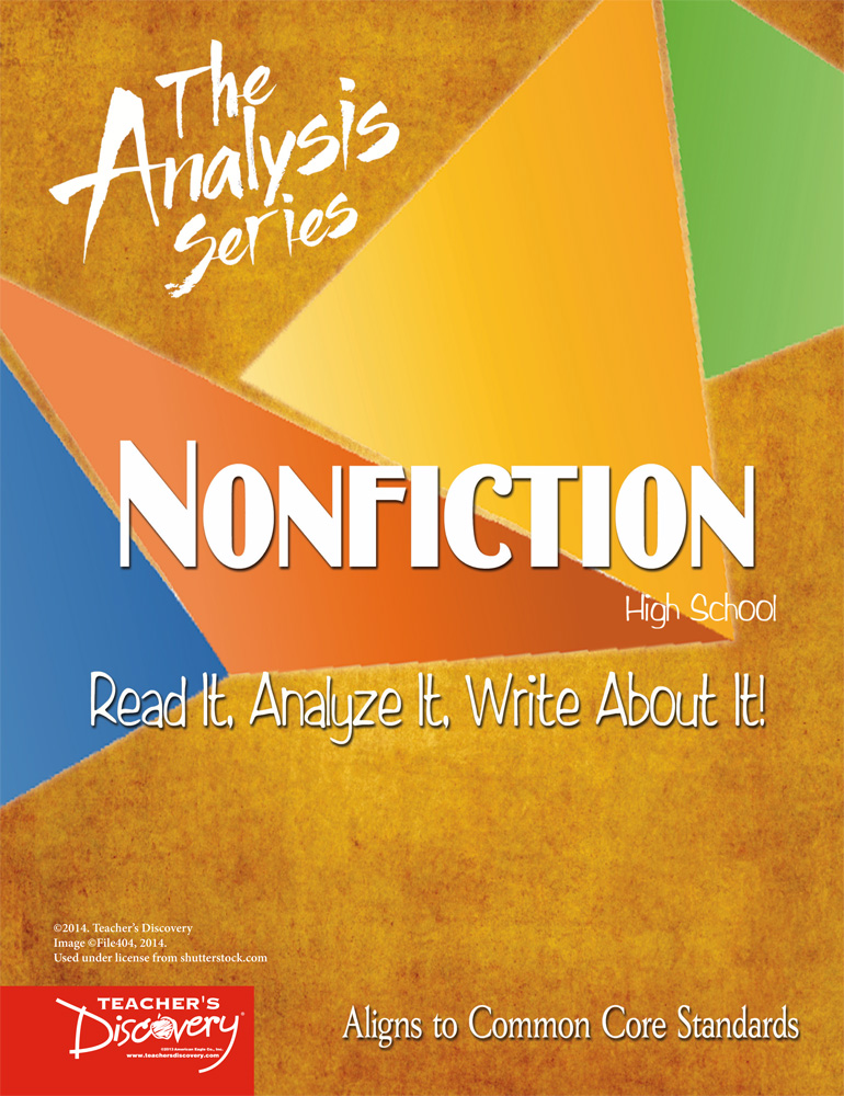The Analysis Series: Nonfiction High School Book - The Analysis Series: Nonfiction High School Print Book