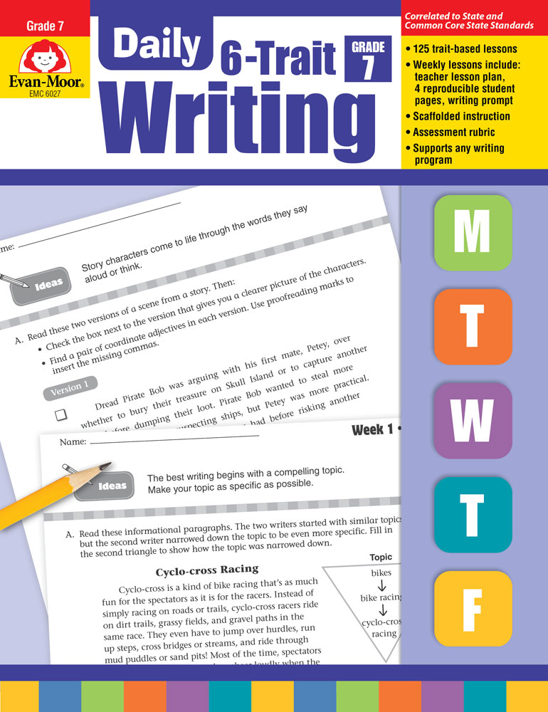 Daily 6-Trait Writing Activity Books