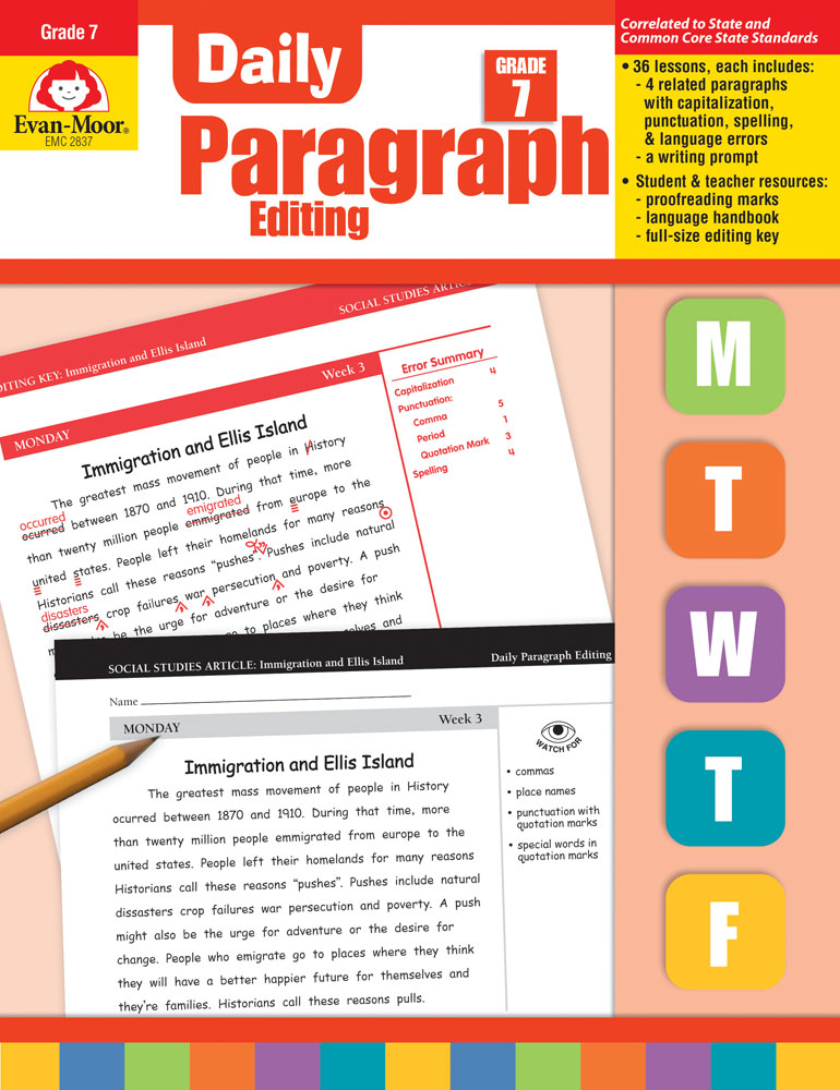 Daily Paragraph Editing Activity Books