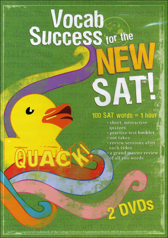 Quack! Vocab Success for the New SAT, Volume 1-5 DVD (©2004)