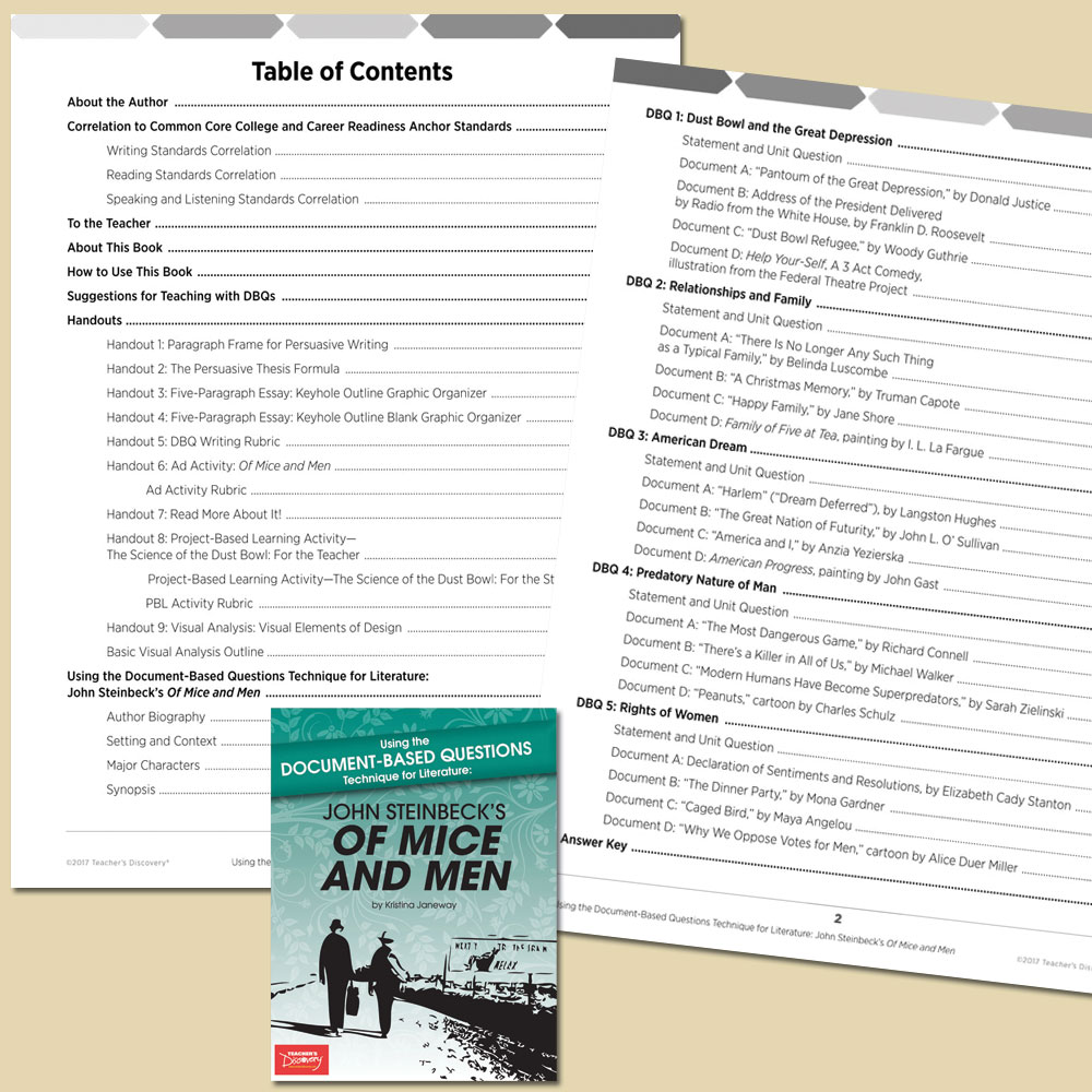 Document Based Questions Natural Disasters