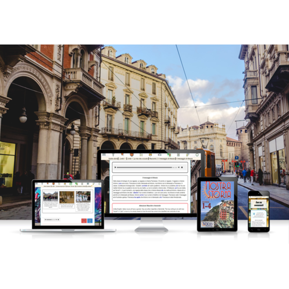 Voces® Nostra storia Digital Resource Subscription - Hybrid Learning Resource