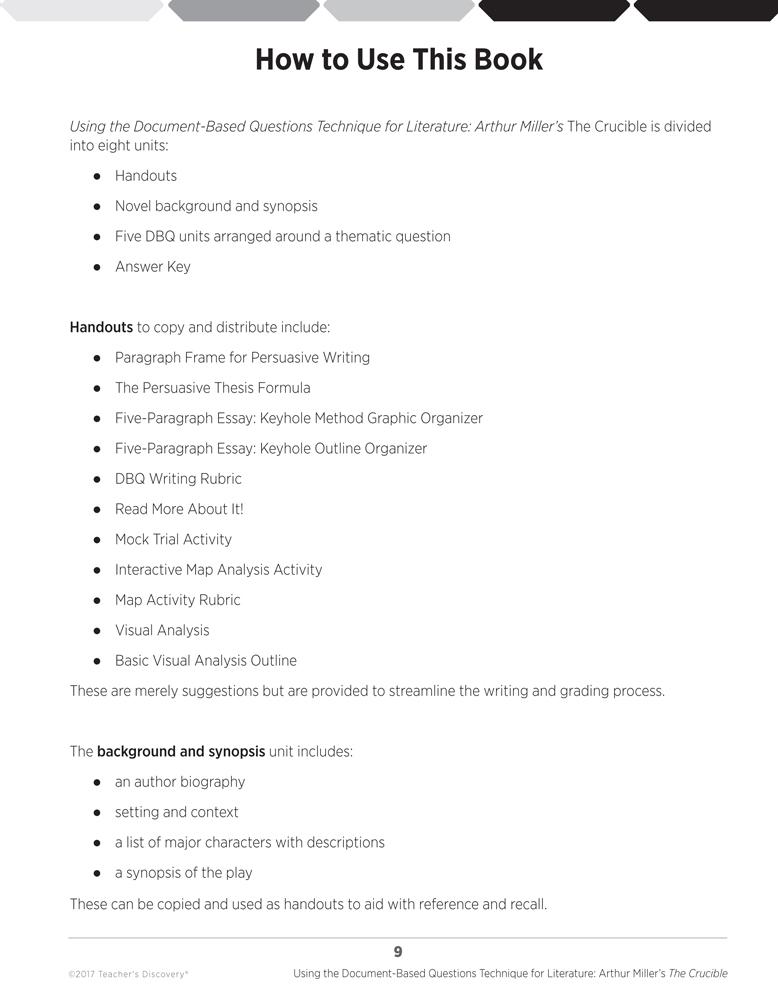 the crucible theme 5 paragraph