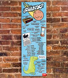 Useful Time Phrases Skinny Poster Spanish