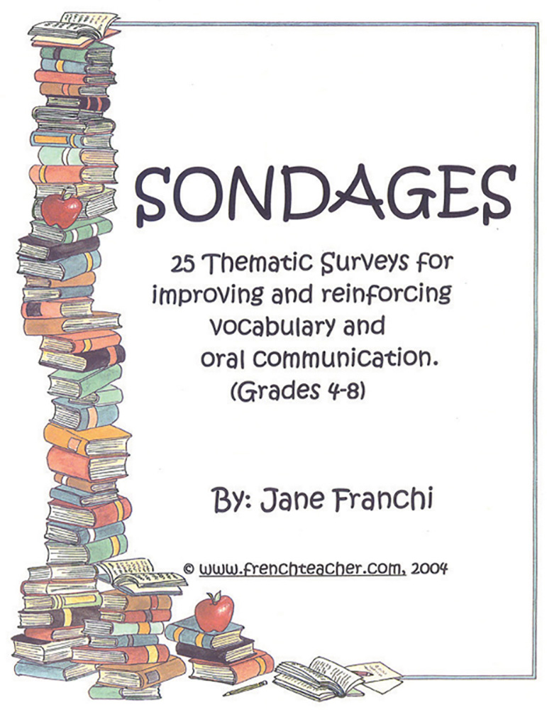 Sondages Activities French Activity Packet
