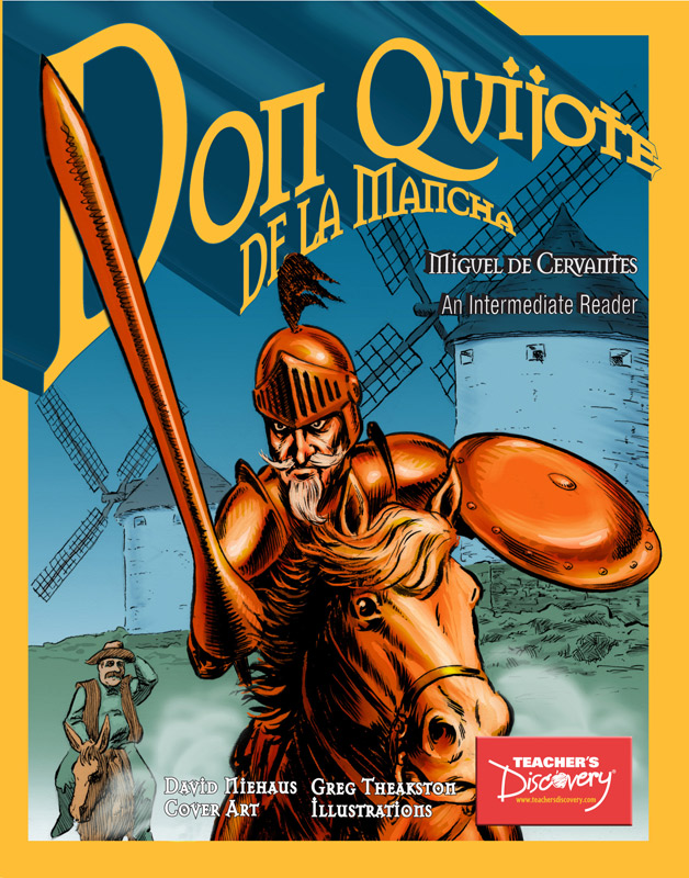 Don Quijote Intermediate Spanish Graphic Reader on CD