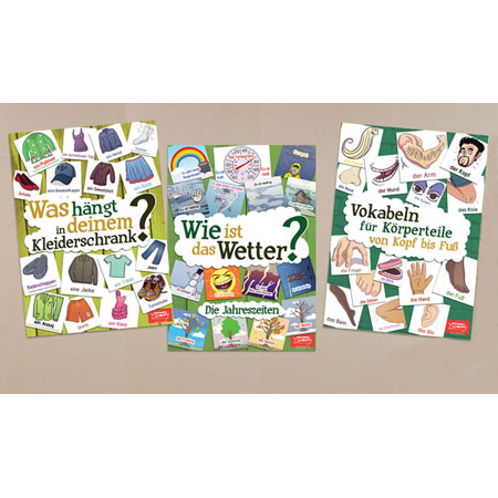 Vocabulary Posters Set of 3 German
