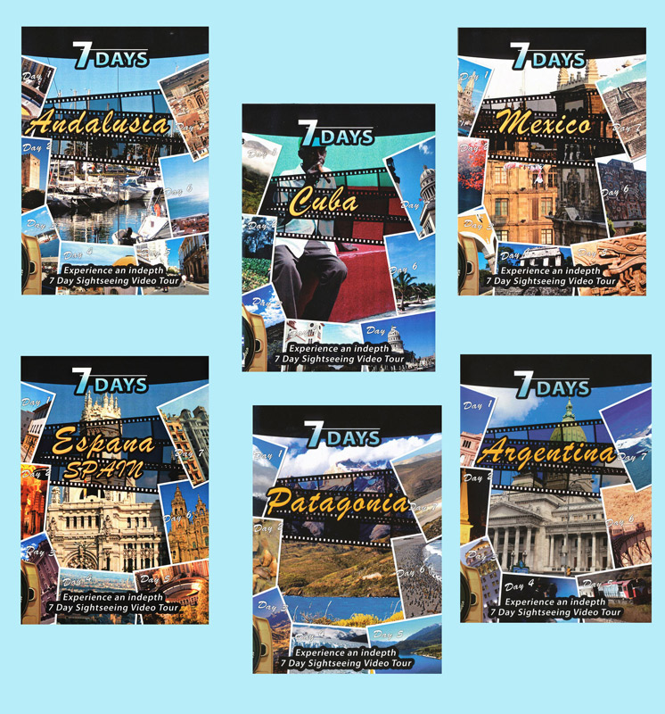 7 Days Travel DVDs Set of 6 Movies