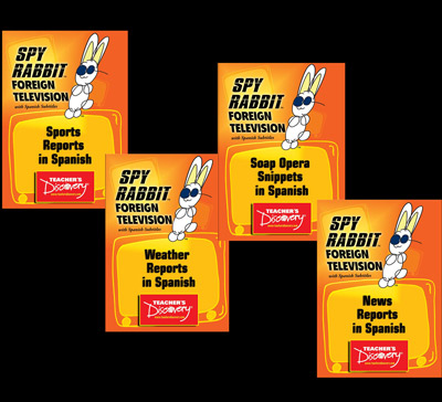 TV Clips Set of 4 Spanish Spy Rabbit DVDs