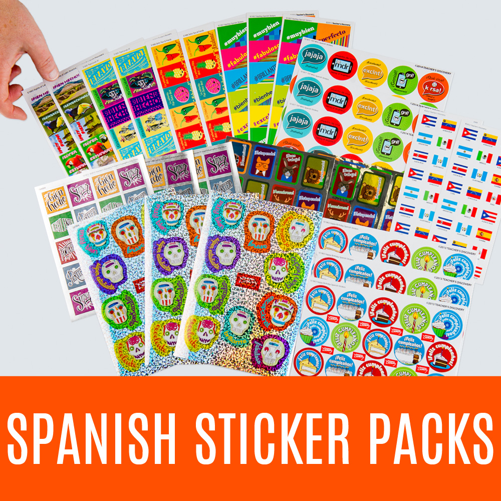 Spanish Sticker Packs - Deluxe Spanish Sticker Pack (750)