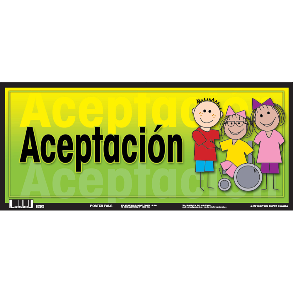 Acceptance Spanish Door Sign