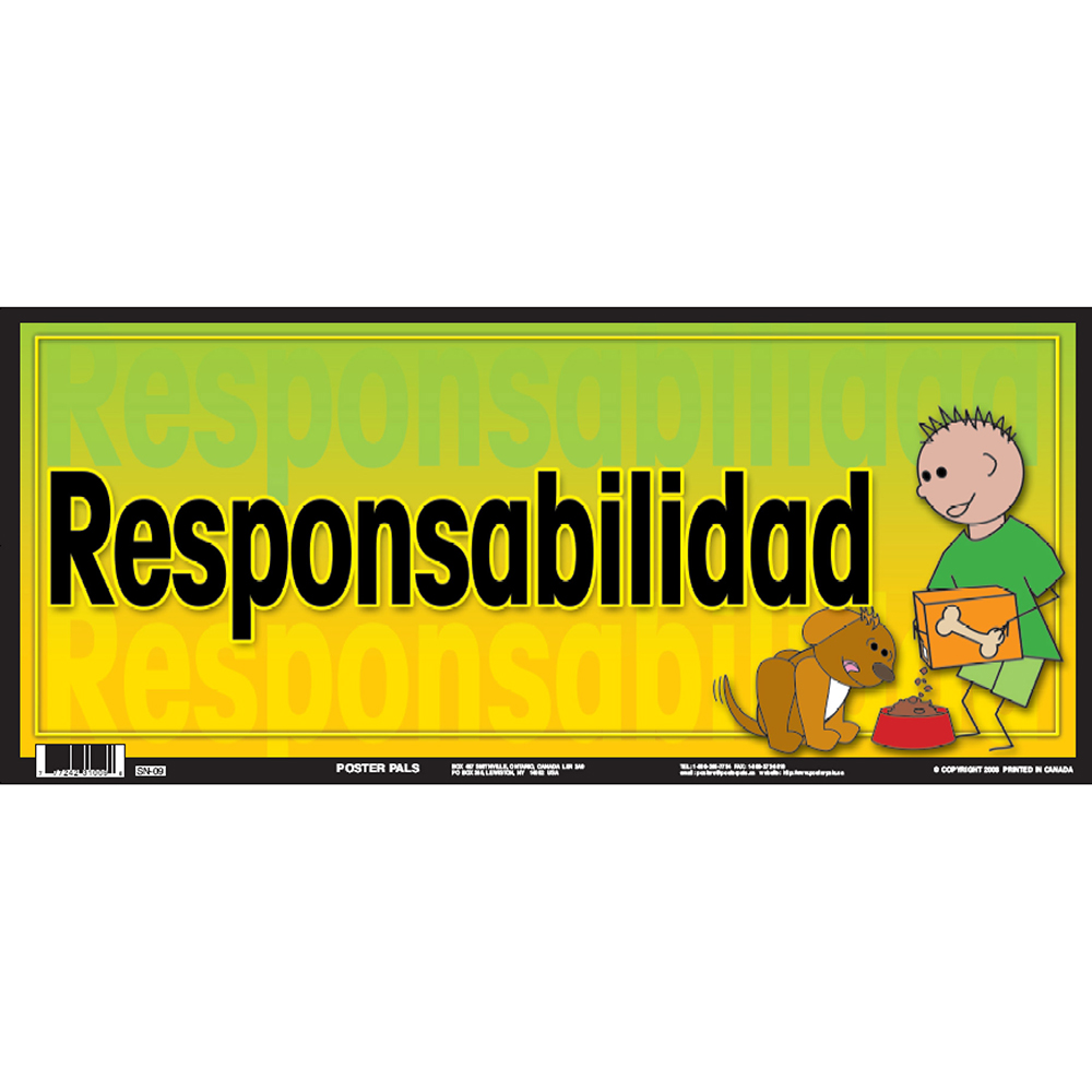 Responsibility Spanish Door Sign