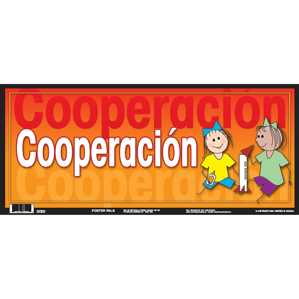 Cooperation Spanish Door Sign