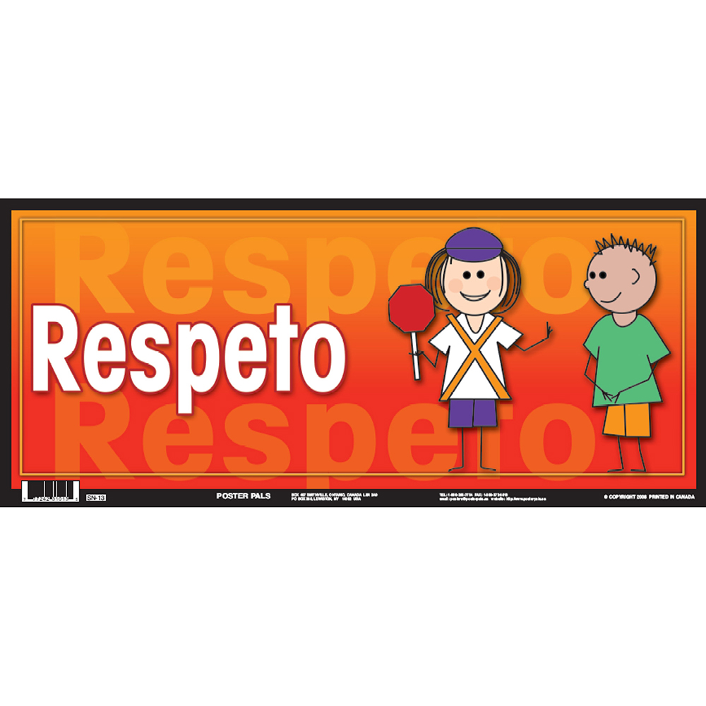 Respect Spanish Door Sign