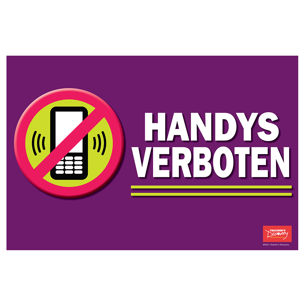 No Cell Phone / Handys verboten German Poster