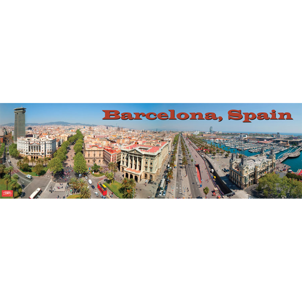 Barcelona, Spain Panoramic Poster