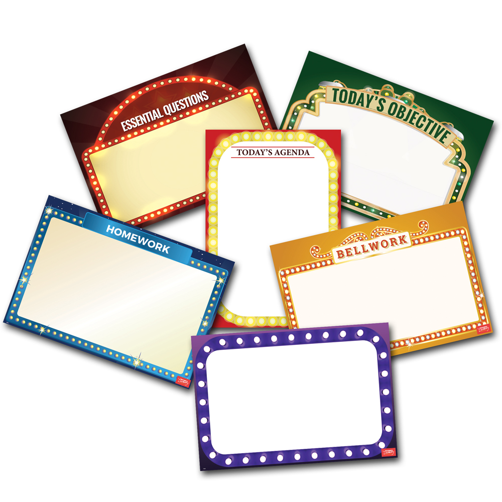 Essential Classroom (English) Dry-Erase Posters - Set of 6