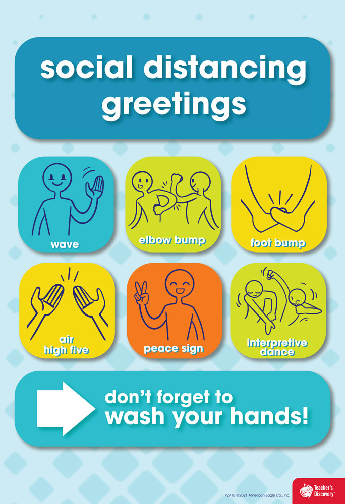 Social Distancing Greetings (English) Mini-Poster
