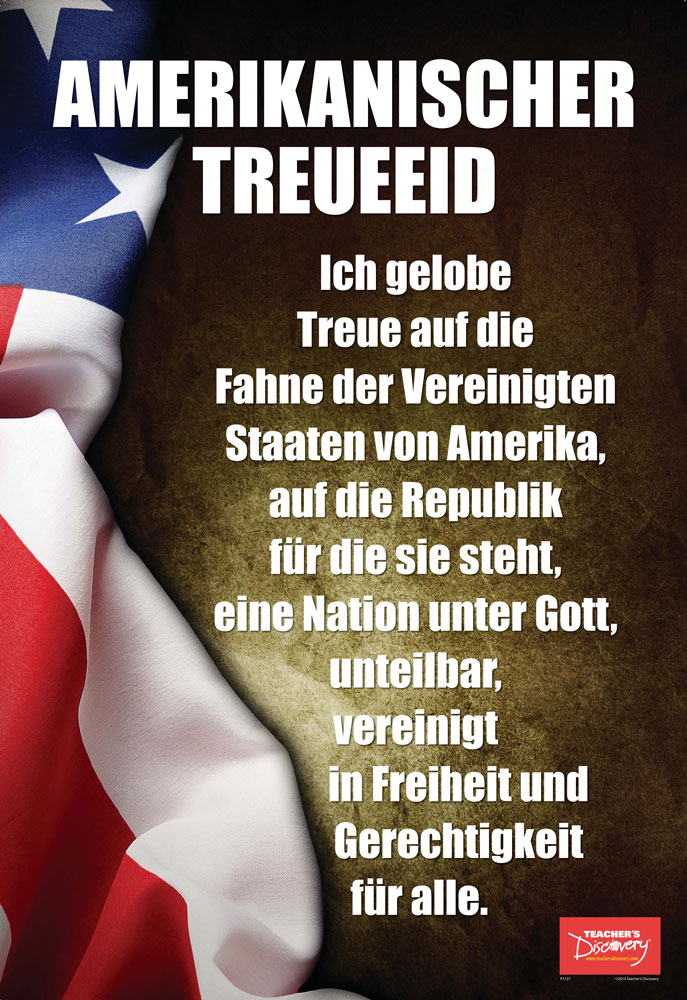 Pledge of Allegiance German Mini-Poster