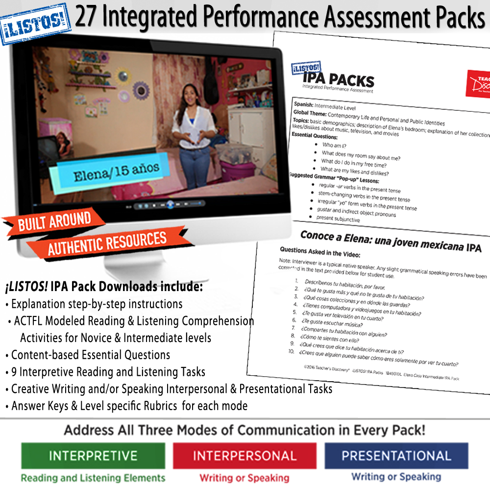 Spanish IPA Packs Set of 27 - HYBRID LEARNING DOWNLOAD