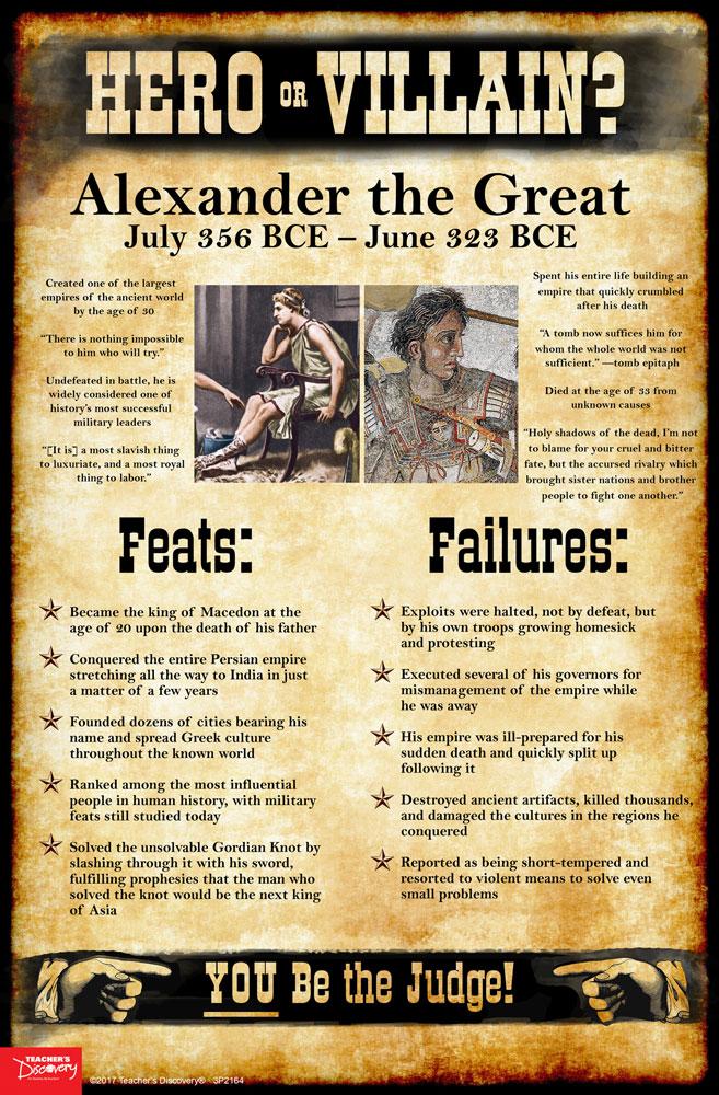 Alexander the great a hero or a villain essay