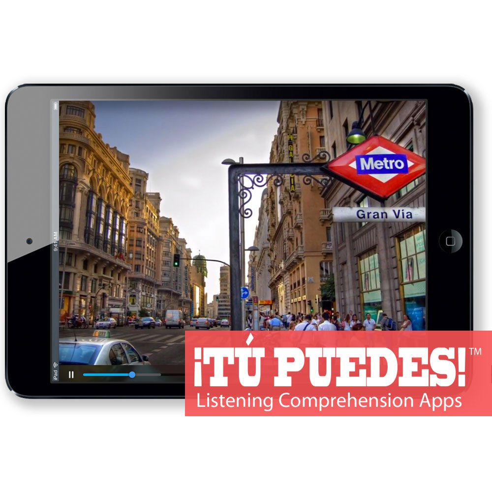 Listening Comprehension App Madrid Tour for One Teacher and Unlimited Students