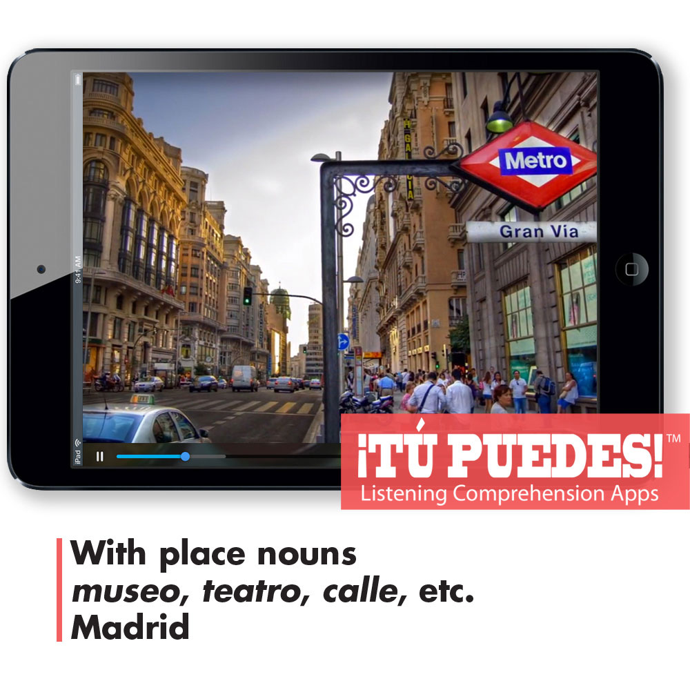 Listening Comprehension App for Hybrid Learning: Madrid Tour - Hybrid Learning Resource