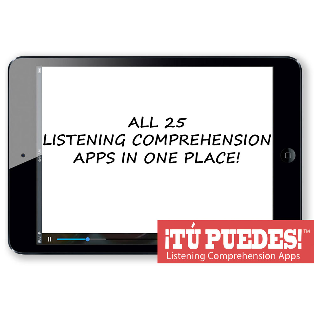 All 25 Listening Comprehension Apps for One Teacher and Unlimited Students
