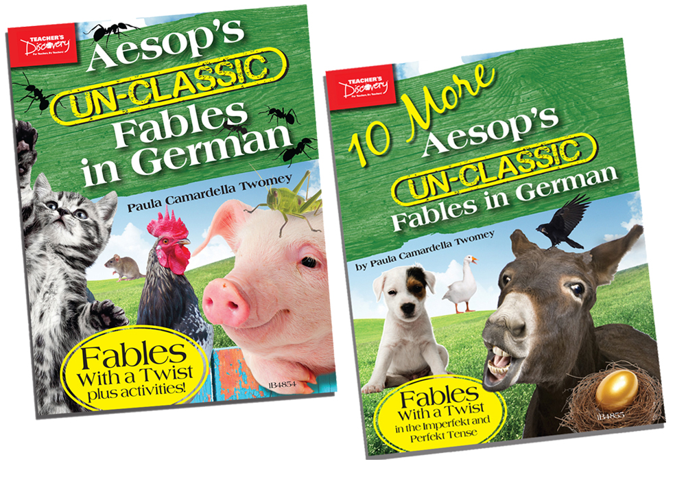 Aesop's Un-Classic Fables in German in the Level 1 Book and 10 More Aesop's Un-Classic Fables in German in the Level 2 Book Set