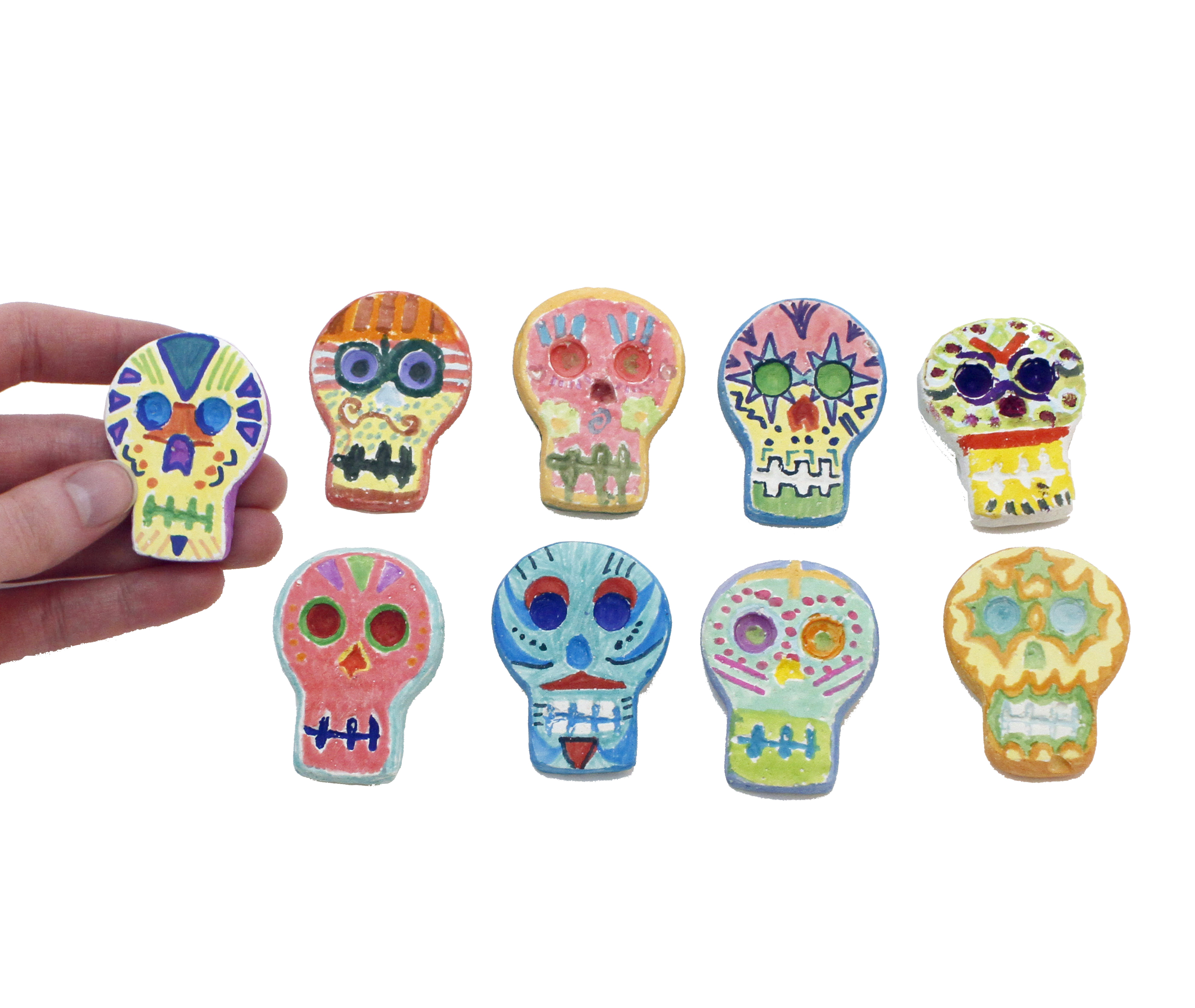 Day of the Dead Skull Magnet Kit - Day of the Dead Skull Magnet Kit
