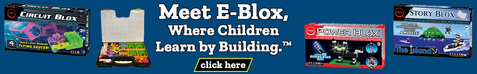 Meet E-Blox where children learn by building.
