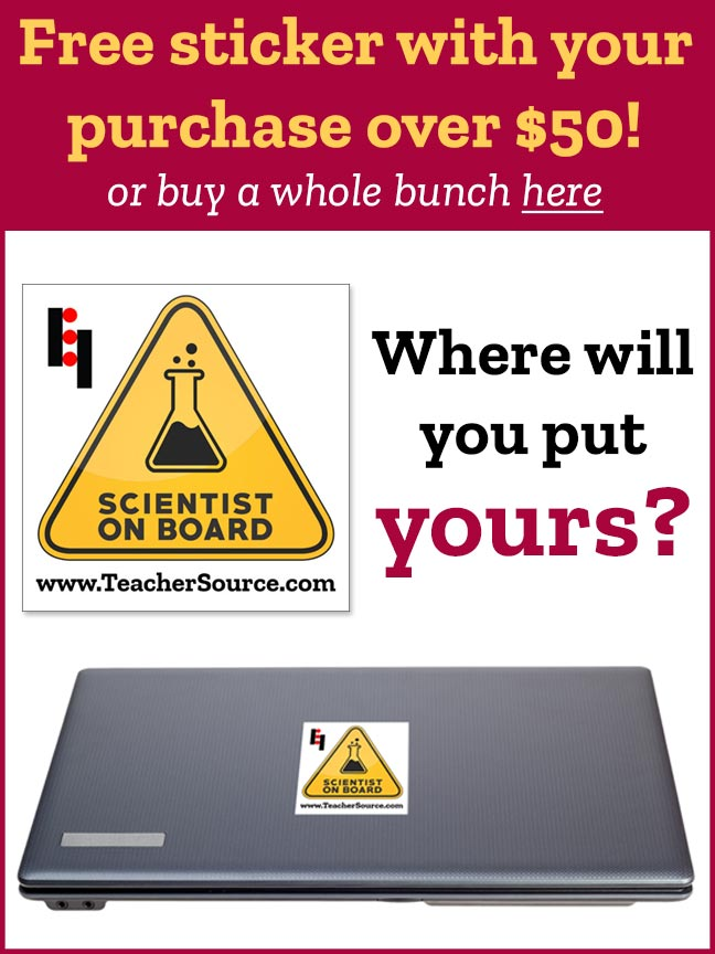 Scientist On Board Sticker