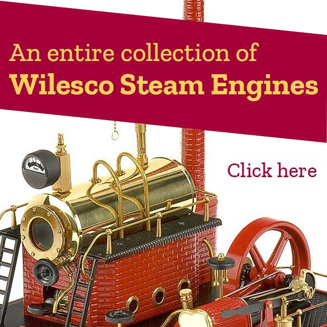 An entire collection of Wilesco Steam Engines