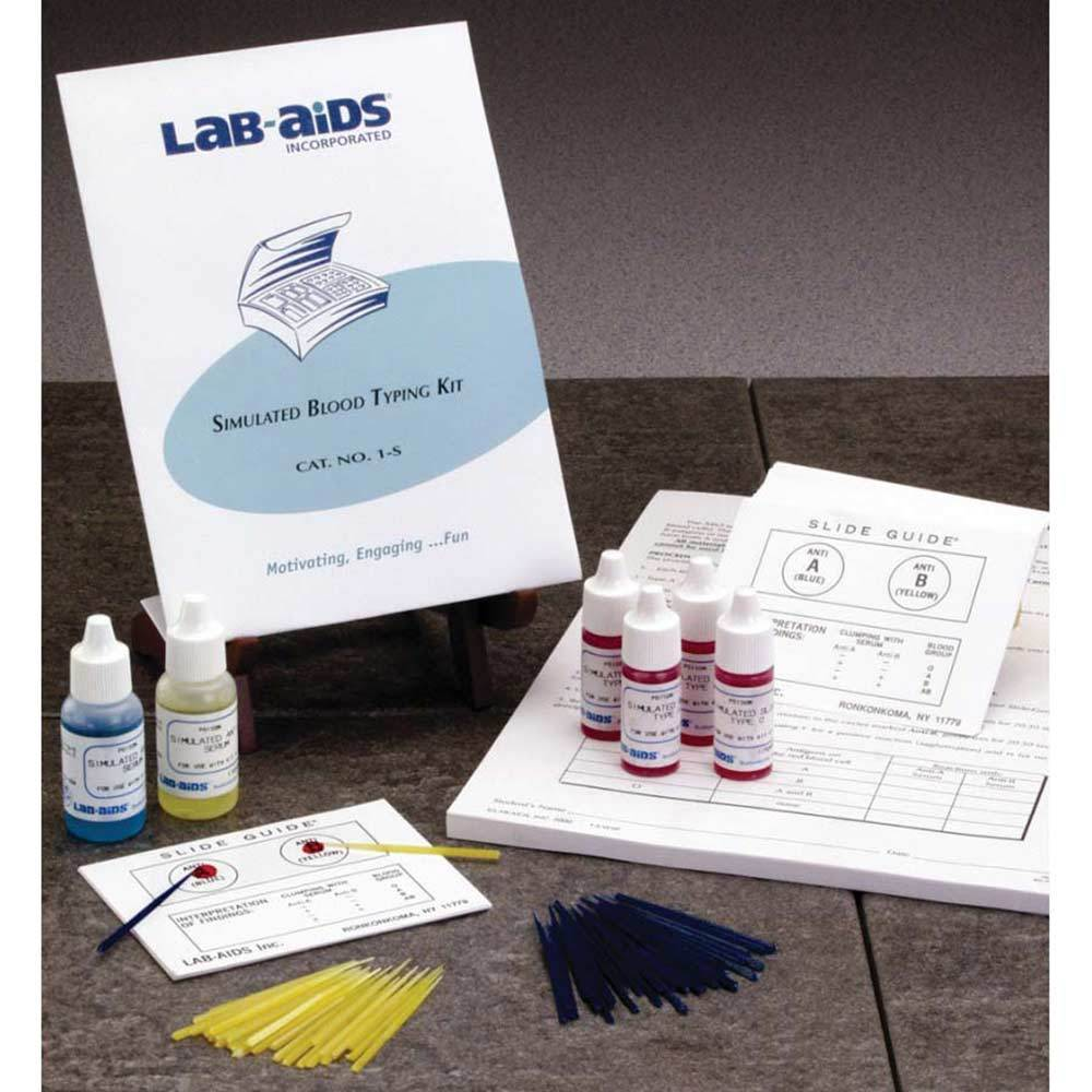 "Simulated ""Blood"" ABO Typing Class Kit"