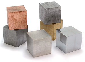 Density Cubes - Six Metals