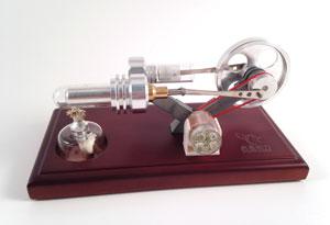 Stirling Engine with Alcohol Burner