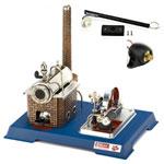 Wilesco Steam Engine with Add-On Generator/Light Kit