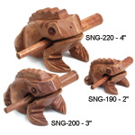 Wooden Percussion Frogs - Wooden Percussion Frog 2 inch