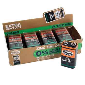 9 volt Batteries - pack of 10