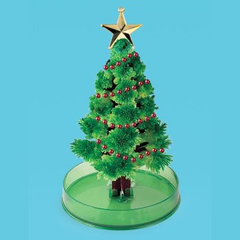 Growing Holiday Crystals - Green 6 inch Crystal Growing Tree - *Seasonal Availability*
