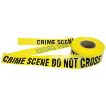 """CRIME SCENE DO NOT CROSS"" Barrier Tape"