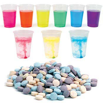 Color Splash Tablets - Jar of 200 Assorted Color Tablets