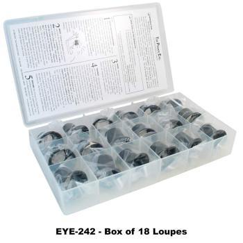 Box Set Of 18 Eye Loupes