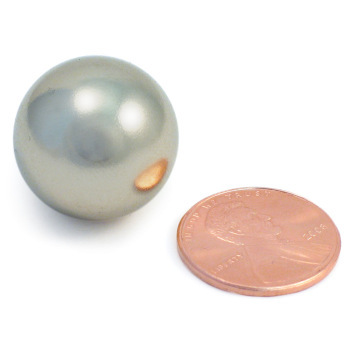 Neodymium Magnets - Large Neodymium Sphere 0.75 in. Dia. (1.9 cm)