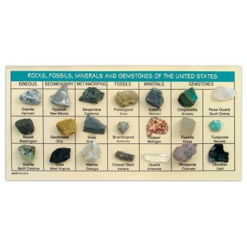 Rocks, Fossils, Minerals & Gemstones of the US