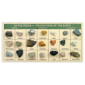 Rocks, Fossils, Minerals & Gems - Native Rocks - Foundations of the Earth