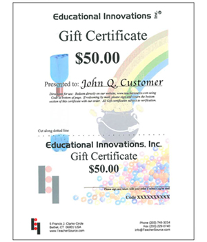 Gift Certificates - Mailed