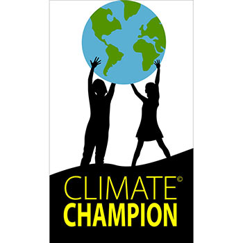 Climate Champion Stickers - 10 Paper Climate Champion Stickers