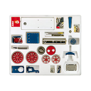 Steam Traction Engine - D 415 / red & blue / kit